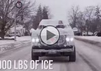 Custom truck made of 11,000 pounds of ice, and it can drive for 1 mile!