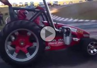 A TRACTOR at the drag strip! Just when I thought I've seen it all!