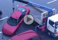 Bet you haven't seen this weird way of towing a car! Well, this is how they do it in Japan!