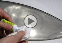 Polish your hazy headlights using only tooth paste, car wax, water and cloth!