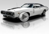 Fully restored white 1971 Dodge Charger R/T, elegant and clean!
