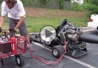 """Jetkart"" – a Go kart powered by a Boeing jet engine!"
