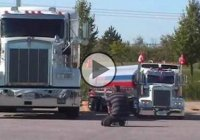 Mini Kenworth tanker, used for distributing beverages at various events!