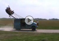 Redneck rollercoaster van doing wheelies! You need to see this!