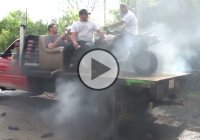 Only in Nebraska! The most redneck burnout ever!