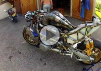 An incredible YAMAHA motorbike, completely HAND MADE!
