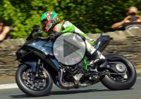 James Hillier With His Supercharged KAWASAKI Ninja H2R Hits Above 200 mp/h At The Isle of Man TT!!