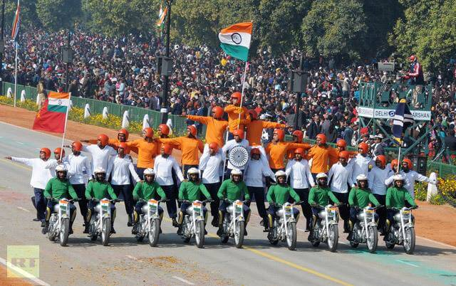 Spectacular Motorcycle Performance At Republic Day Parade