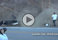 Harley Davidson Bagger Motorcycle Crash – The Rider Walked Away Like a BOSS!