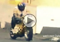 Riders Worst Nightmare – Front Tyre Sets Loose During Race!!