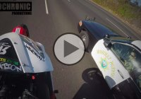 Biker Pulls Wheelie In Front Of Cops And Escapes!!