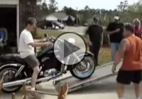 One Of The Funniest Motorcycle Loading Fails!