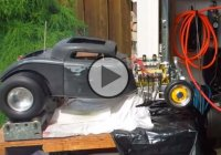 Quarter scale RC 1934 Ford Coupe that runs on Nitro-methane fuel! Impressive!