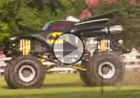 The Batmobile Monster Truck or the Battruck! The coolest Bat ride ever!