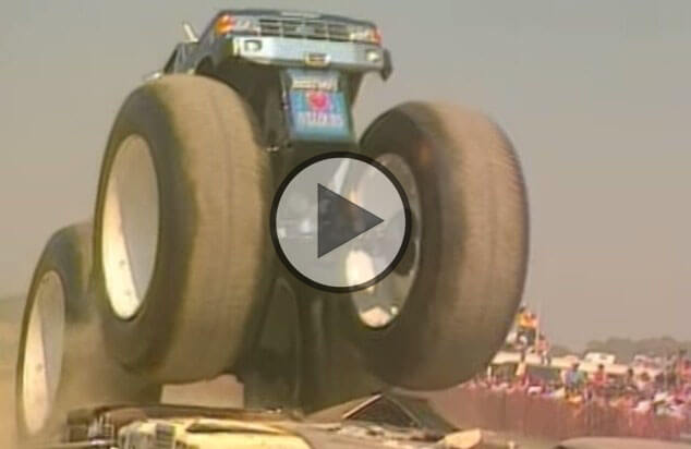 Drift School Usa >> Biggest monster truck in the world is rolling over cars