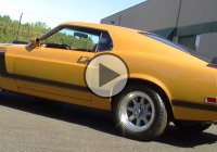 Bright Gold Metallic 1970 Ford Mustang BOSS 302!