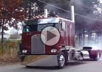 Kenworth K100e sleeper Cab-over truck doing a spectacular burnout!!!
