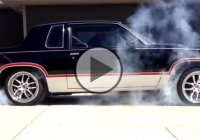 Beast in chains! An AWD Oldsmobile Cutlass doing a crazy burnout!