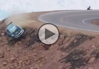 The infamous Mitsubishi Evo crash at the Pikes Peak International Hill Climb competition!