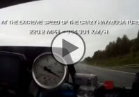The Ghost Rider performing a 354 km/h wheelie top speed with his Hayabusa Turbo 499bhp!