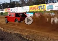 This 3000+ HP Hummer drag racing on sand has got to be the craziest thing ever!