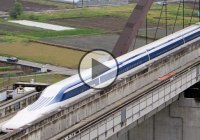 A Japan Railway maglev train hit 603 kilometers per hour (374 miles per hour)!!!