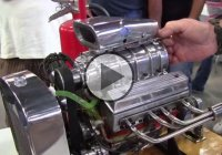 Miniature Blown V8 Engine! Sweet!