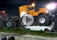 A VERY BIG MONSTER TRUCK with 10X10 all wheel drive!