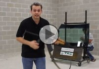 Ballistic test of a bulletproof glass – the CEO of TAC against his employee's AK-47!
