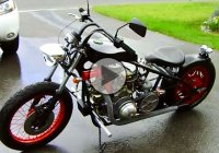 Punsun V Twin Diesel custom motorcycle that started as a 1975 Honda CB500T!