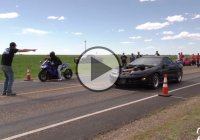 Heads up Dig Race Between a 88mm Turbo Trans-Am vs Stretched ZX10!