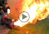 Dirt/Doodle Bug Mini Bike With Custom Flamethrower Exhaust!