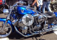 Unique Harley Davidson Chopper With 4 Engines!