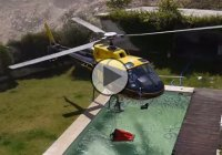 Smart helicopter pilot improvises to put out a wildfire and saves the day!