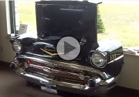 The ultimate man cave accessories made of a 1957 Chevy Belair!!