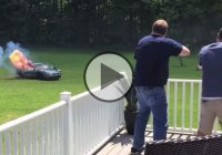 Car pranks! R. Atwood pranks his grandma by blowing up her car!