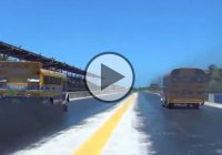 School buses drag racing in Puerto Rico! Andale, Andale!