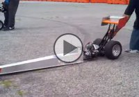 These 1/4 scale dragsters are the coolest, and you can place bets on them!