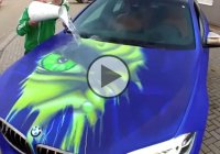 This BMW X6 is turning into the Incredible Hulk when poured with hot water!!