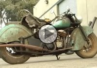 1948 Indian Chief brought back to life after 40 years of resting in a garage!
