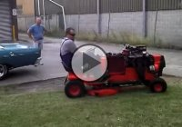 """The Amputator"", a crazy and wicked V8 lawn mower!"