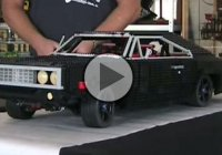 Extremely cool 1:5 scale 1970 Dodge Charger made from legos!!!