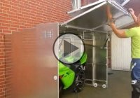 Motorcycle storage that's practical, easy and cool!