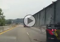 Semi-truck with an oversize load tipping over! Expensive fail!