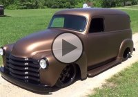 A 1947 Chevrolet panel truck built by Hudson Rod and Custom shop!!