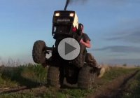 10HP Diesel Roper tractor pulling an incredible wheelie!! How about that?