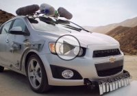Making music in the desert with Chevy Sonic, a creative music video by OK GO!!