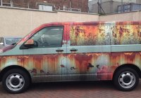 Brand new Volkswagen Transporter wrapped in rust camouflage!
