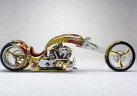 """Nehme-sis"" – 24-Karat Gold Plated Custom Road Star by BMS Choppers!"