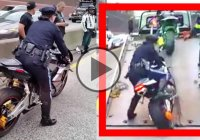Lady Police Officer Impounded a Bike And Try To Rode It Into a Ramp – Bad Idea!!